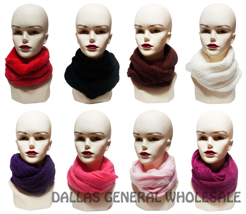 Ladies Winter Fashion Knitted Infinity Circle Scarf Wholesale - Dallas General Wholesale