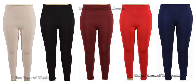 Girls Solid Color Plus Size Thermal Leggings Wholesale - Dallas General Wholesale