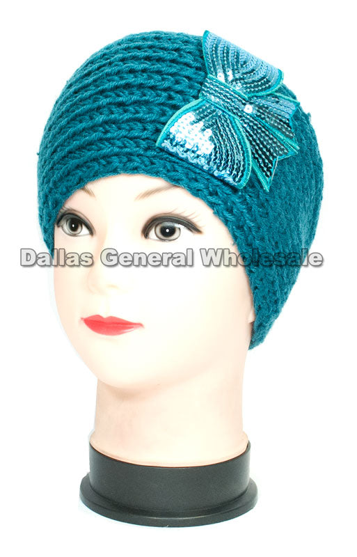 Bow Tie Designed Girls Winter Fashion Headbands Wholesale - Dallas General Wholesale