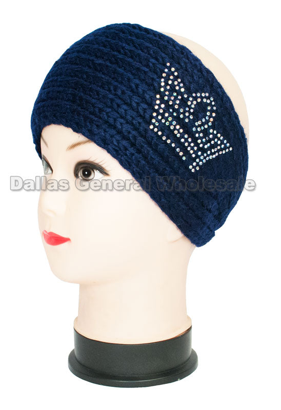 Crown Studded Ladies Fashion Winter Headbands Wholesale - Dallas General Wholesale