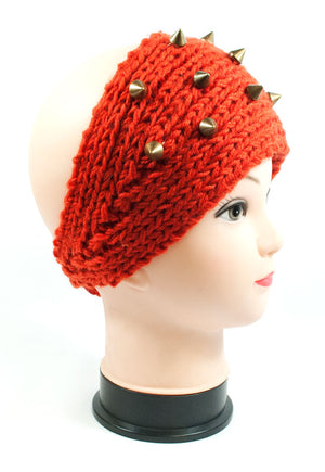 Ladies Knitted Headbands with Spike Studs Wholesale - Dallas General Wholesale