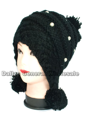 Assorted Designs Girls Winter Fashion Beanie Caps Wholesale - Dallas General Wholesale