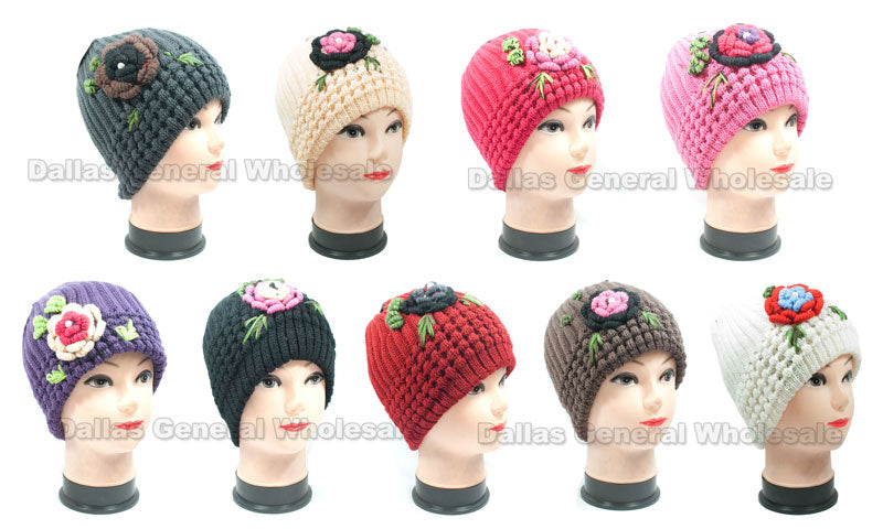 Ladies Knitted Beanies Hats Wholesale - Dallas General Wholesale