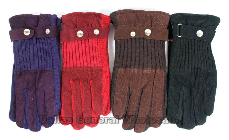 Women's Knitted Insulated Gloves Wholesale - Dallas General Wholesale