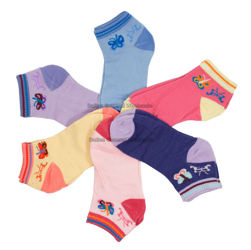 Little Girls Butterfly Ankle Socks Wholesale - Dallas General Wholesale