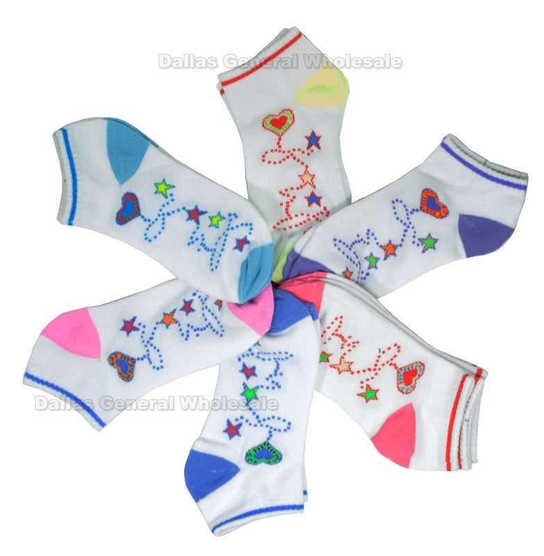 Little Girls Cute Ankle Socks Wholesale - Dallas General Wholesale