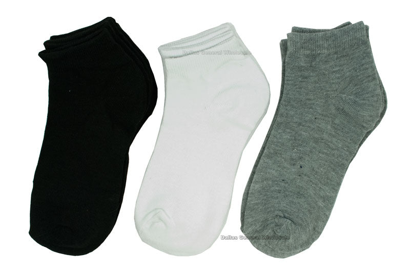 Little Kids Solid Color Socks Wholesale - Dallas General Wholesale