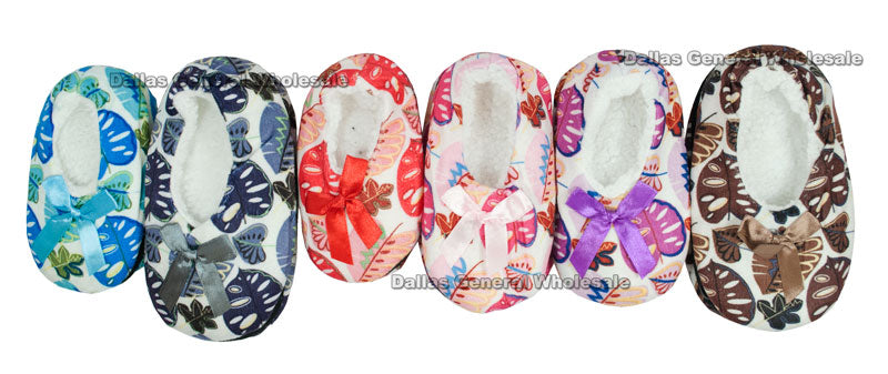 Little Kids Fleece Sock Slippers Wholesale - Dallas General Wholesale