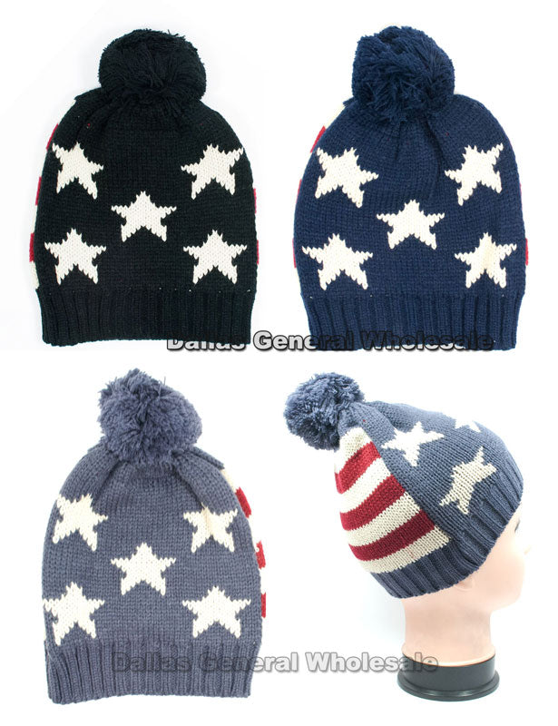Childrens American Flag Beanie Hats Wholesale - Dallas General Wholesale