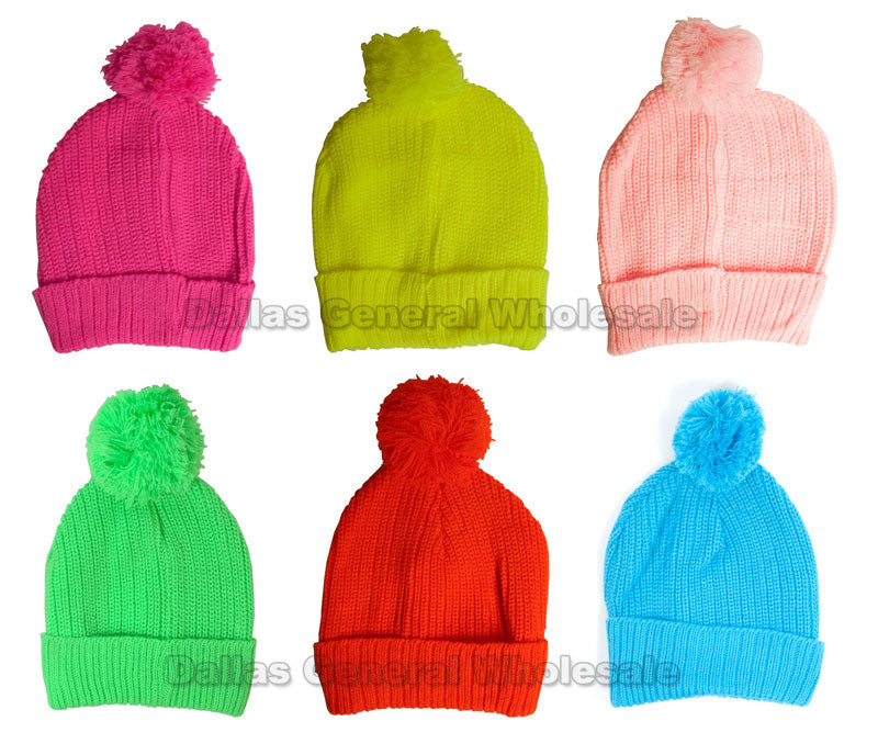 Children's Neon Color Beanie Hats Wholesale - Dallas General Wholesale