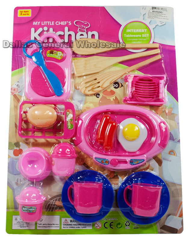19 Pieces Kitchen Pretend Play Sets Wholesale - Dallas General Wholesale