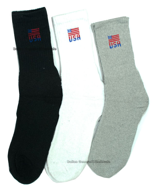 Men Casual Crew Socks Wholesale - Dallas General Wholesale