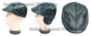 Men Leather Newsboy Caps Wholesale - Dallas General Wholesale
