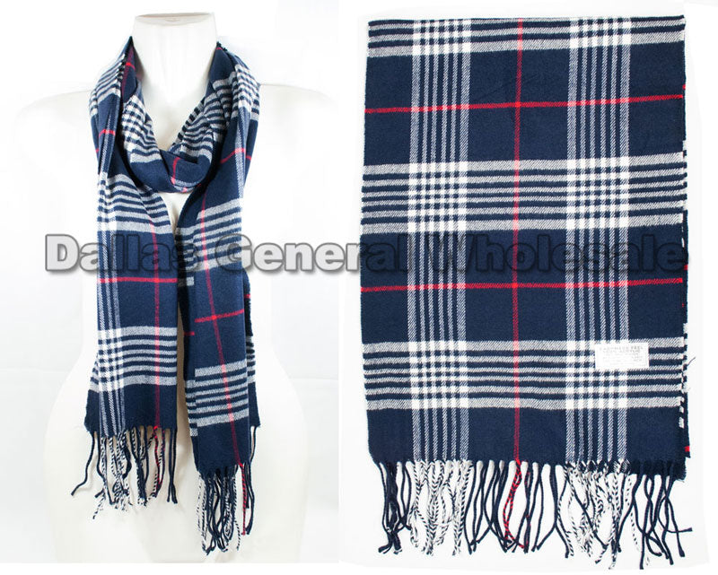 Plaid Printed Cashmere Feel Scarf Wholesale - Dallas General Wholesale