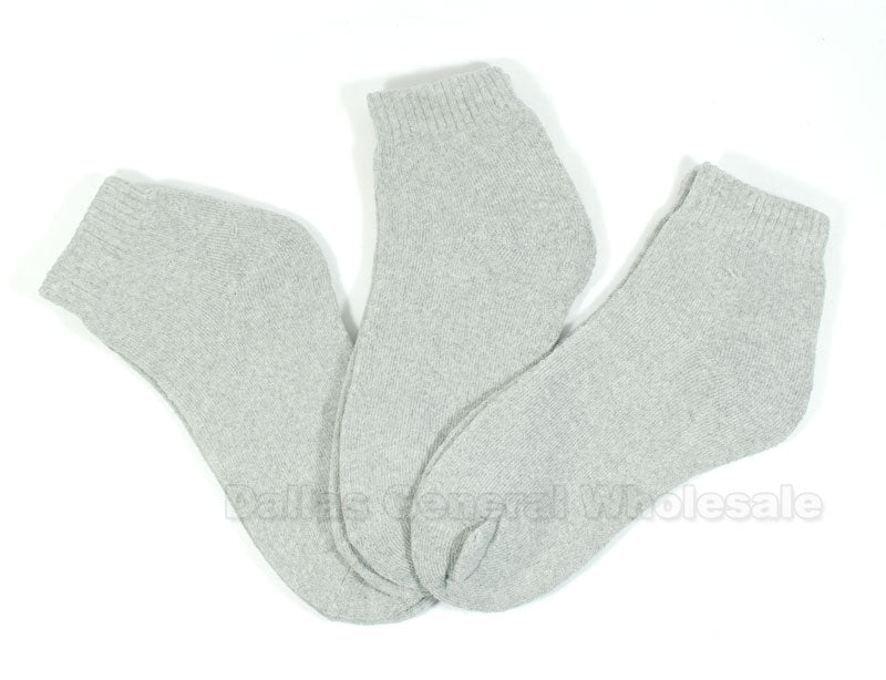 Men Grey Color Ankle Socks Wholesale - Dallas General Wholesale