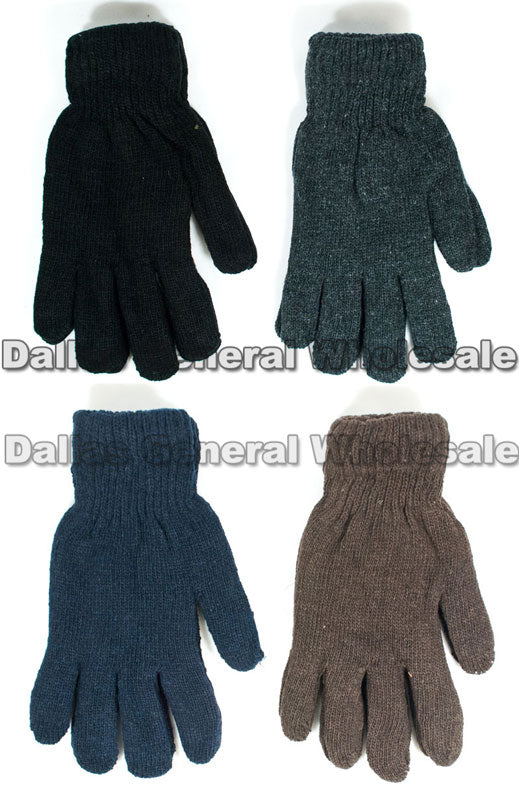 Men Knitted Full Finger Gloves Wholesale - Dallas General Wholesale
