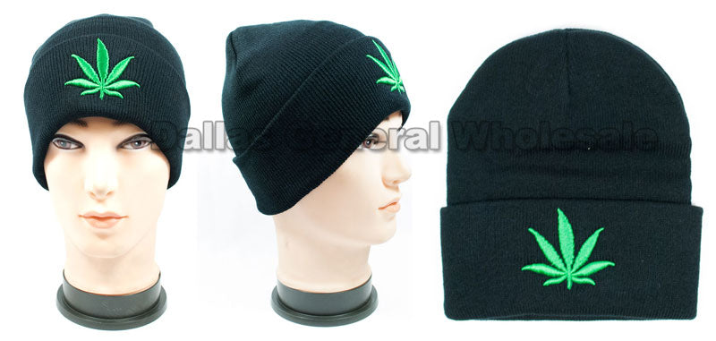 Marijuana Skull Beanie Caps Wholesale - Dallas General Wholesale