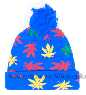 Marijuana Knitted Beanie Caps Wholesale - Dallas General Wholesale
