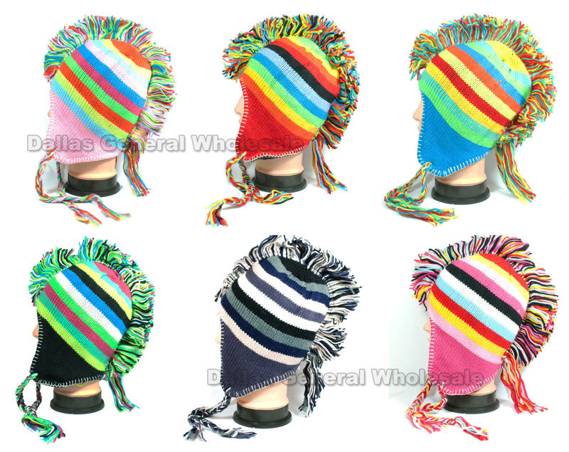 Knitted Mohawk Toboggan Beanie Hat Wholesale - Dallas General Wholesale
