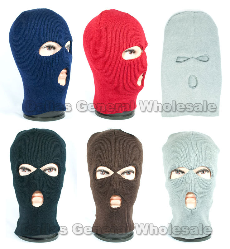 3 Hole Beanie Masks / Balaclava Wholesale - Dallas General Wholesale