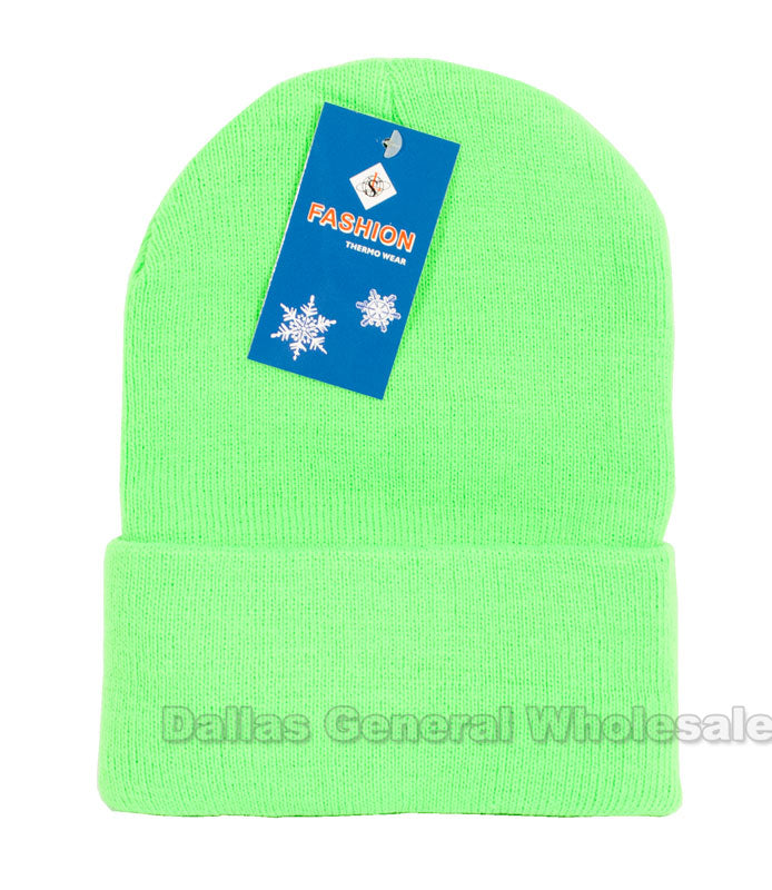 Neon Color Knitted Beanie Hats Wholesale - Dallas General Wholesale