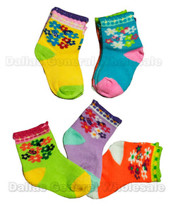 Baby Girls Cute Ankle Socks Wholesale - Dallas General Wholesale