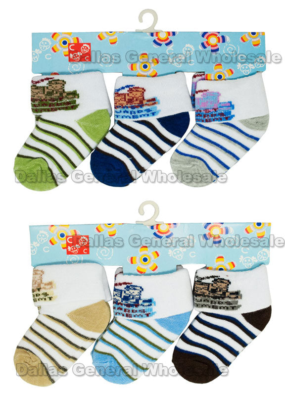 Infant Newborn Boys Socks Wholesale - Dallas General Wholesale