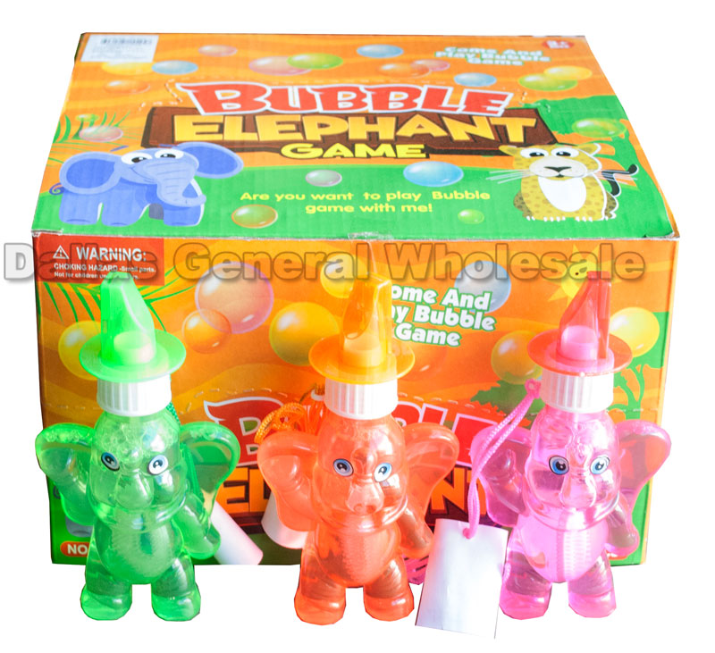 Elephant Bubble Blower with Whistle Wholesale - Dallas General Wholesale