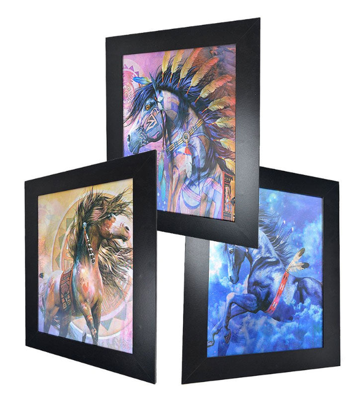 3D Picture Frame of Native Indians Inspired Horses Wholesale - Dallas General Wholesale