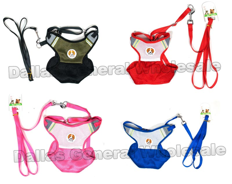 Glow In Dark Pet Harness with Leash Sets Wholesale - Dallas General Wholesale