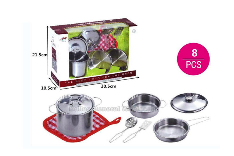 Toy Stainless Steel Pots Play Set Wholesale - Dallas General Wholesale