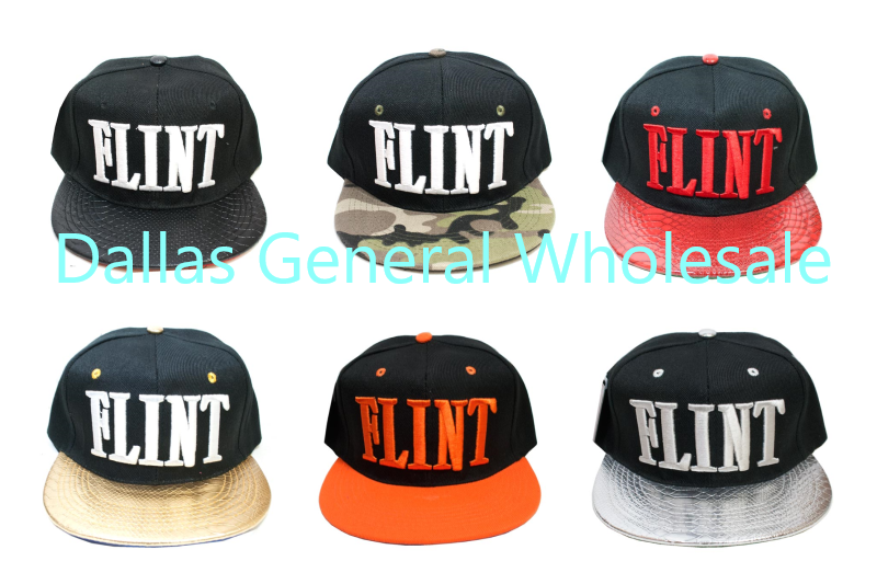 """Flint"" Trendy Snap Back Caps Wholesale"
