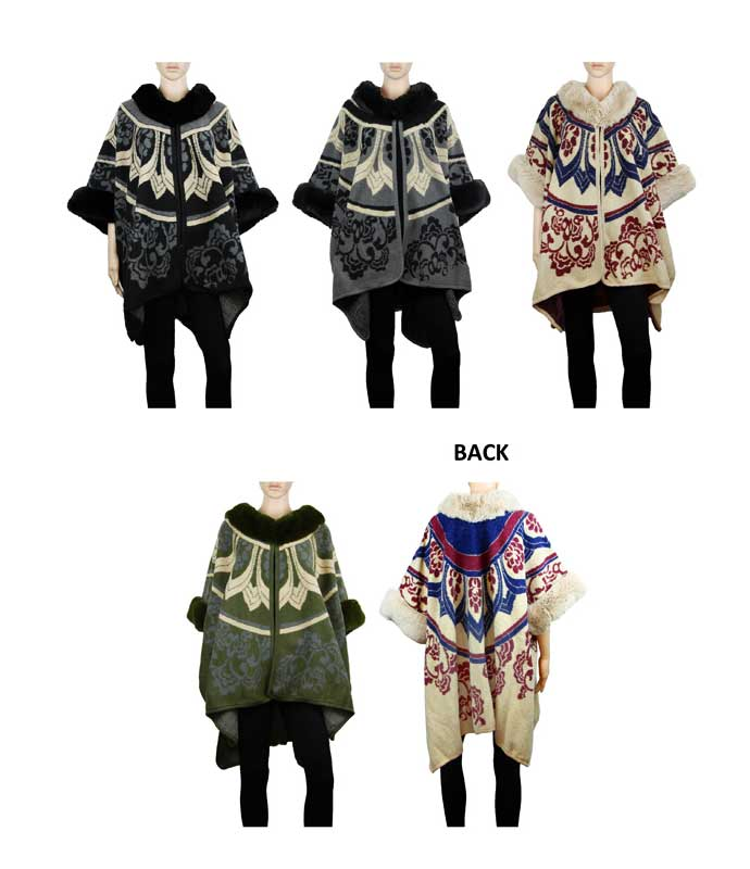 Fashion Cardigan Ponchos Wholesale - Dallas General Wholesale