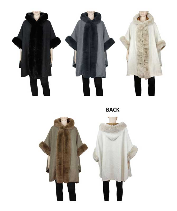 Ladies Fur Poncho Capes Wholesale - Dallas General Wholesale