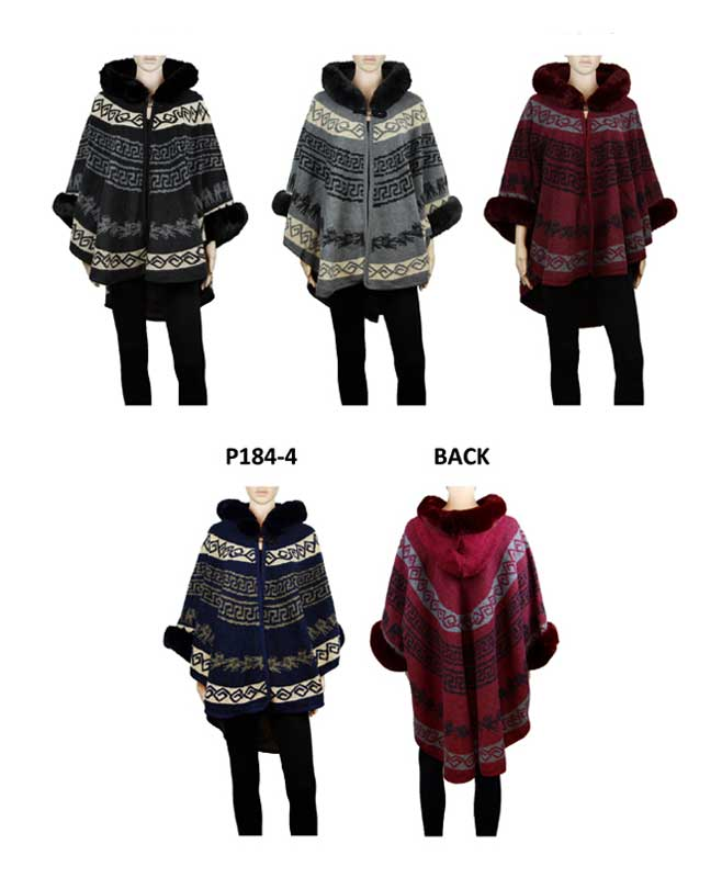 Fur Fashion Cardigan Ponchos Wholesale - Dallas General Wholesale
