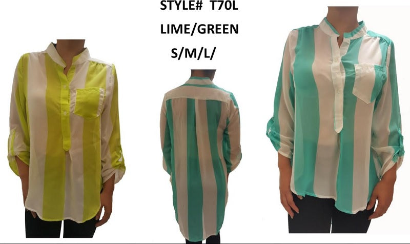 Button Down Fashion Blouses Wholesale - Dallas General Wholesale