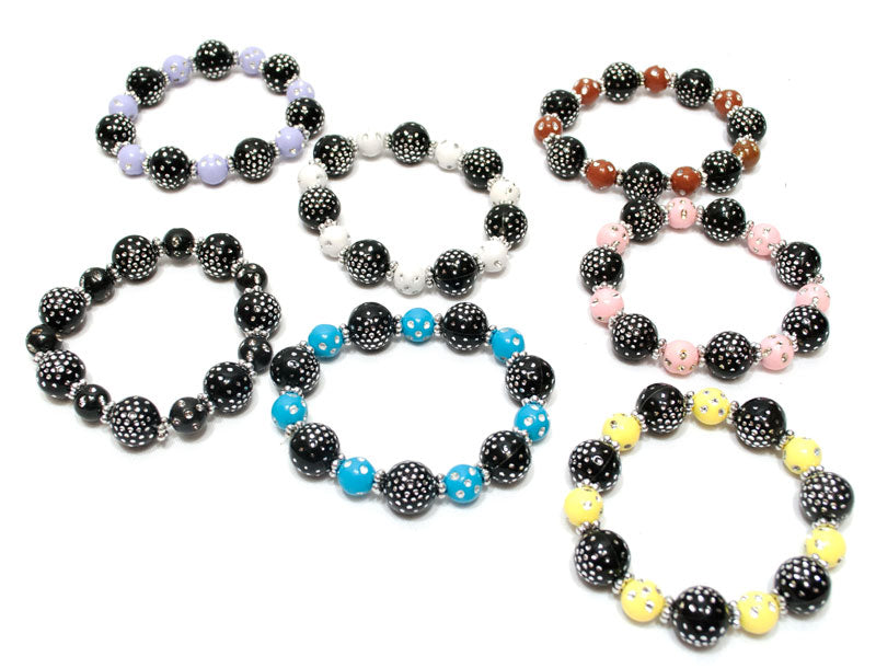 Studded Round Beads Bracelets Wholesale - Dallas General Wholesale