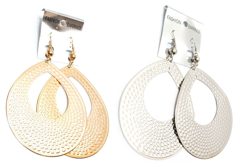 Teardrop Big Hoops Earrings Wholesale - Dallas General Wholesale