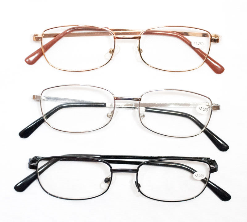 Metal Frame Reading Glasses - Dallas General Wholesale