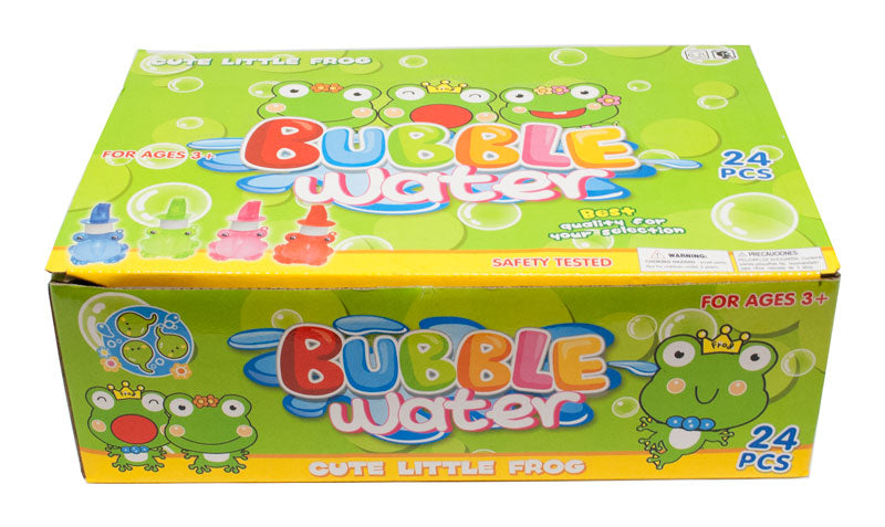 24 PC Frog shaped Bubbles Blower with Whistle - Dallas General Wholesale