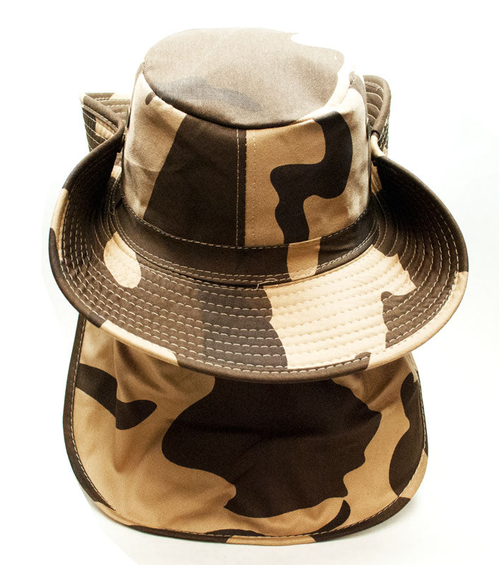 Camouflage Bucket Hats with Flap Wholesale - Dallas General Wholesale