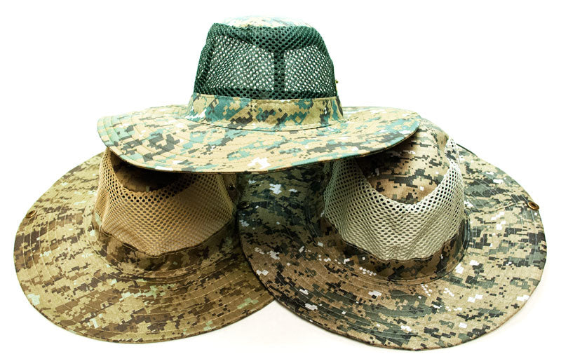 Desert Digital Camouflage Mesh Bucket Hat - Dallas General Wholesale