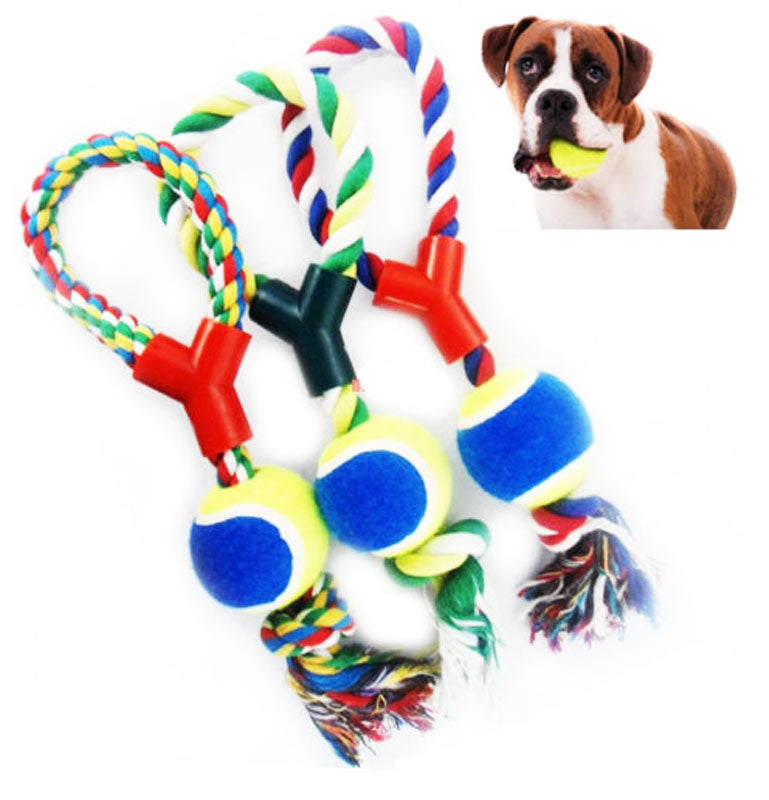Assorted Dog Chewing Rope Toy - Dallas General Wholesale