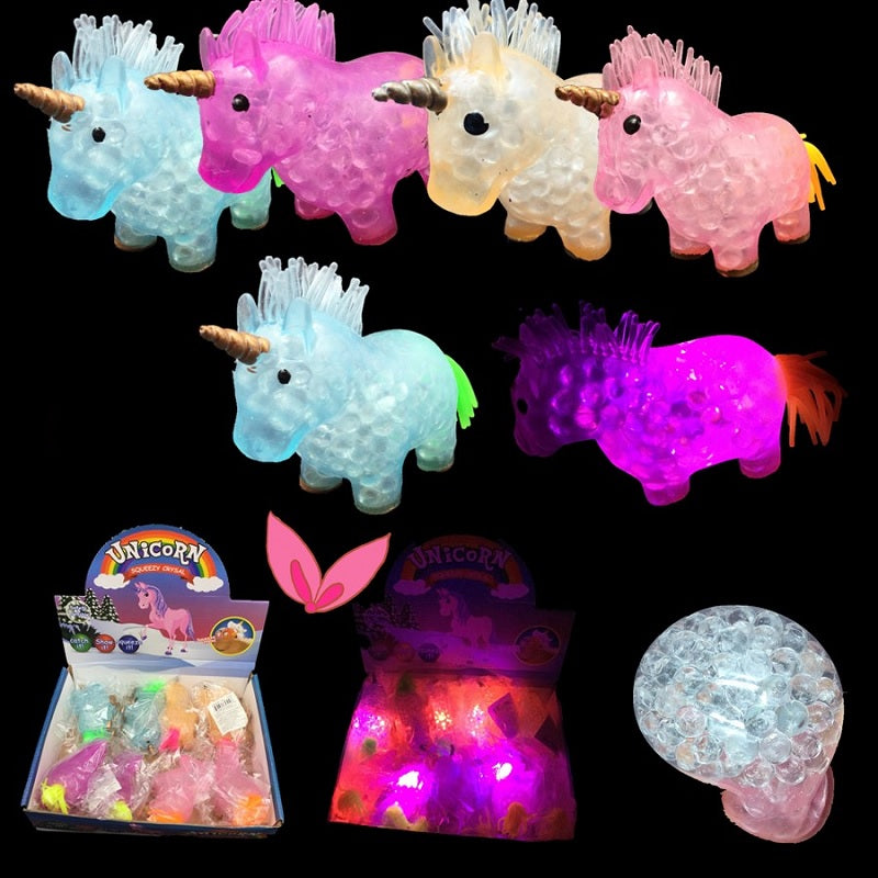 Light Up Unicorn Squishy Toys Wholesale - Dallas General Wholesale