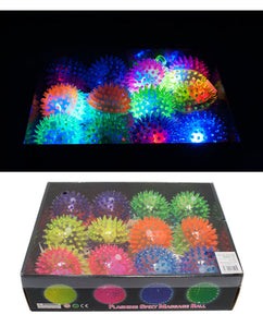 Flashing Light Up Squeezable Spike Yoyo Ball - Dallas General Wholesale