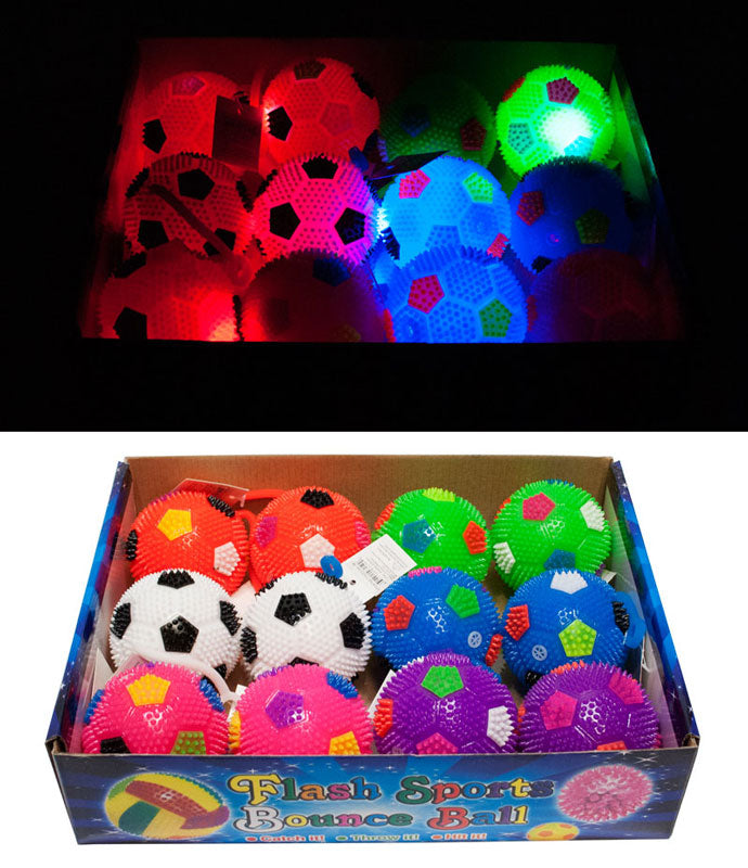 Flashing Light Up Squeezable Yoyo Soccer Ball - Dallas General Wholesale
