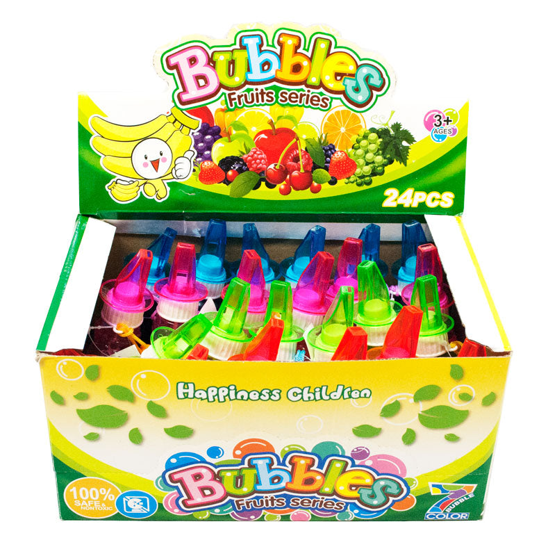 Fruit Designed Bubbles with Whistles Wholesale - Dallas General Wholesale