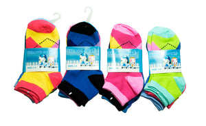 Little Girls Plaid Ankle Socks - Dallas General Wholesale
