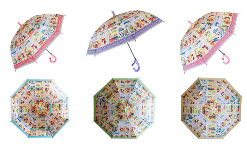 Little Kids Automatic Umbrellas-Bear Designs - Dallas General Wholesale