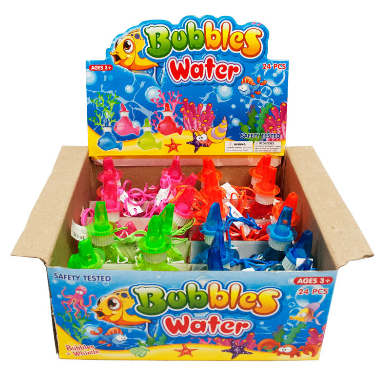 24 PC Fish Shaped Bubble with Whistle - Dallas General Wholesale